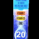 Vitamin C,D3 and zinc